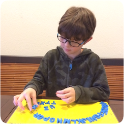 Child Using Abecedarian Product