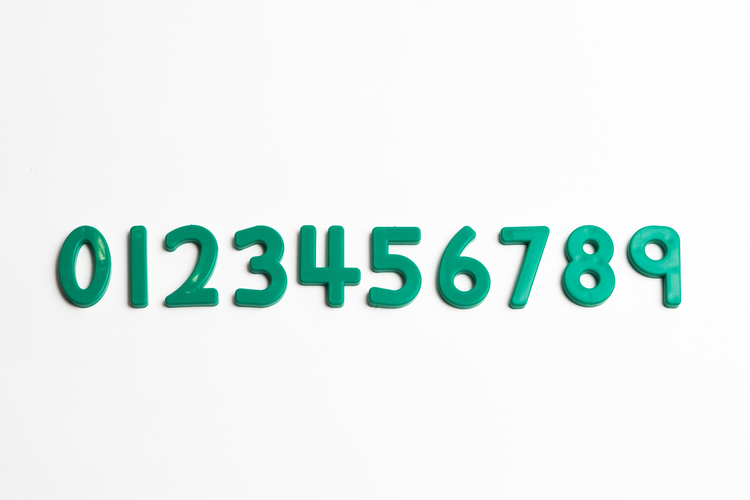 "Green Numbers (2"")"