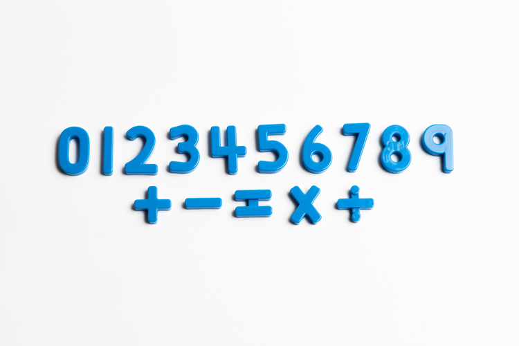 "Magnetic Blue Numbers (1 ¼"")"